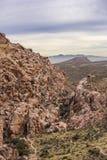 Garganta vermelha da rocha fotografia de stock