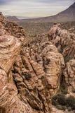 Garganta vermelha da rocha Fotografia de Stock Royalty Free