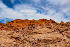 Garganta vermelha da rocha Foto de Stock Royalty Free