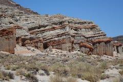 Garganta vermelha da rocha - Califórnia Imagem de Stock