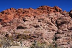 Garganta vermelha da rocha em Las Vegas Imagens de Stock