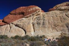 Garganta vermelha da rocha em Las Vegas Imagem de Stock Royalty Free