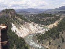 Garganta - Yellowstone fotos de stock
