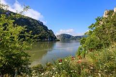 Gargantas de Danubio Cazanele Mari, Rumania Fotos de archivo libres de regalías