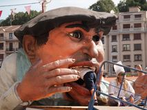 Gargantua au grand festival de Semana à Bilbao Photographie stock