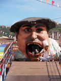 Gargantua at the Semana Grande festival in Bilbao. Kids enter the Gargantua mouth during the Semana Grande Festival in Bilbao, this huge and caricaturesque Royalty Free Stock Image