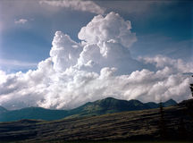 Gargantuan cumulonimbus cloud from the Crater Lake Trail, Weminuche Wilderness, Colorado Stock Photo