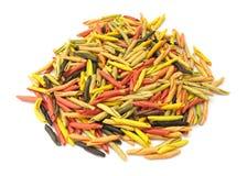 Gargollini italiano della pasta con le verdure e la spezia Fotografia Stock Libera da Diritti