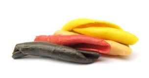 Gargollini italiano della pasta con le verdure e la spezia Fotografie Stock Libere da Diritti