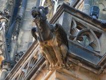 Gargouille, cathédrale de rue Vitus Photos libres de droits