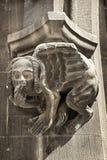 Gargouille gothique sur hôtel de ville dans Marienplatz, Munich, Allemagne Photos libres de droits