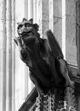 Gargouille médiévale sur l'abbaye Angleterre de York photo libre de droits