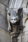 Gargouille in Notre Dame Cathedral in Parijs Stock Foto's
