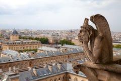 Gargouille van de kathedraal van Notre Dame Stock Foto