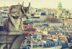 Gargouille van de Kathedraal van Notre Dame Stock Foto's