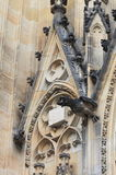 Gargouilles in St Vitus Cathedral in Praag Stock Foto