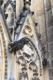 Gargouilles in St Vitus Cathedral in Praag Royalty-vrije Stock Foto's
