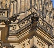 Gargouilles, St Vitus Cathedral, Praag Royalty-vrije Stock Afbeelding