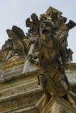 Gargouilles van de kerk van St Barbara royalty-vrije stock foto