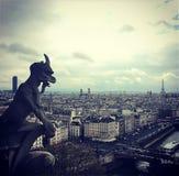 Gargoyl,巴黎,法国 图库摄影