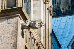 Gargoyl στην κορυφή του καθεδρικού ναού Στοκ Εικόνες