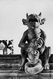 Gargoyle και γοργόνα Στοκ Εικόνα
