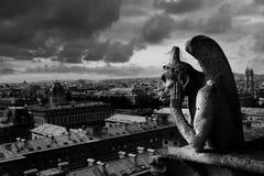 gargoyle Παρίσι Στοκ Φωτογραφία
