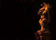 Gargoyle στο Μαύρο Στοκ φωτογραφία με δικαίωμα ελεύθερης χρήσης
