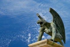 Gargoyle του βασίλειου γεφυρών. Βαλένθια. Ισπανία Στοκ Φωτογραφίες