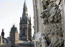 Gargoyle льва стоковое изображение