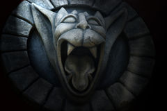 Gargoyle. Photo of gargoyle with open mouth Royalty Free Stock Photo