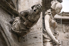 Gargoyle. On the town hall building on the Marienplatz in Munich, Germany royalty free stock photo