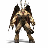 Gargoyle #6. Horns and wings distinguish this creature, who threatens you Royalty Free Stock Photography