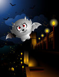 Gargoyle. Vector over a night castle background Royalty Free Stock Image