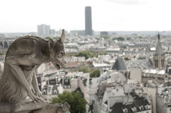 Gargoyle At Notre-Dame Cathedral, Paris Royalty Free Stock Images