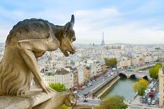 Gargoyle av Paris Arkivbilder
