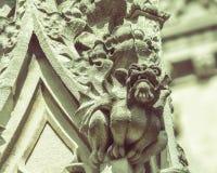 Gargoyle B on St Mary Redcliffe Church Bristol stock image