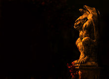 Gargoyle on black Royalty Free Stock Photography