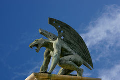Gargoyle of bridge kingdom. Valencia. Spain Royalty Free Stock Photos