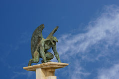 Gargoyle of bridge kingdom. Valencia. Spain Stock Photos