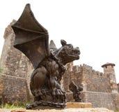 Gargoyle with Castle Stock Image