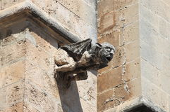 Gargoyle in the cathedral of Palma de Mallorca. Spain Royalty Free Stock Photo