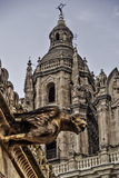 Gargoyle and cathedral Royalty Free Stock Photography