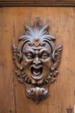 Gargoyle de madera Imágenes de archivo libres de regalías