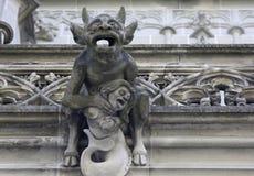 Gargoyle del diavolo, cattedrale di Berna immagini stock