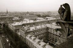 Gargoyle del Notre Dame de Paris imagen de archivo