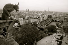 Gargoyle del Notre Dame de Paris fotografía de archivo