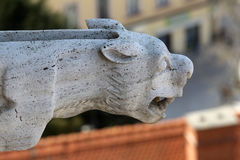 Gargoyle, detail on the facade of the Zagreb cathedral Royalty Free Stock Image