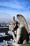 Gargoyle di Notre Dame Immagini Stock Libere da Diritti