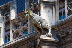 Gargoyle dog Royalty Free Stock Image